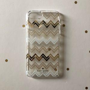 ♠️Kate Spade iPhone 8 Plus Glitter & Gold Case